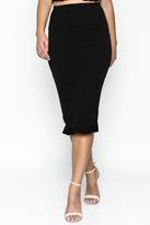 Timeless Ruffle Pencil Skirt Set