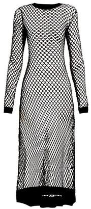 Dodo Bar Or Adeline Fish-net Dress - Womens - Black