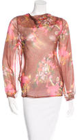Matthew Williamson Silk Floral Print Blouse
