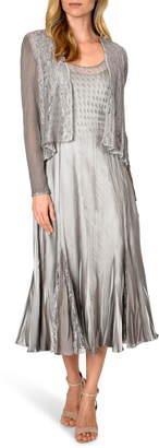 Komarov Lace Inset Midi Dress with Jacket