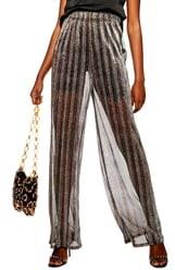 Topshop Wide Leg Sheer Glitter Pants