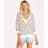 Billabong Women's Setting Sun Stripe Zip up Hoodie