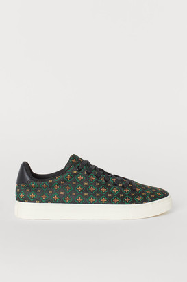 H&M Jacquard-patterned Sneakers - Black