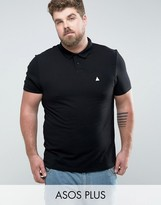 Asos PLUS Muscle Polo In Black