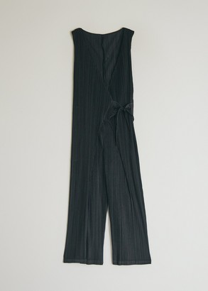 Pleats Please Issey Miyake Women's Wrap Jumpsuit in Black, Size 2