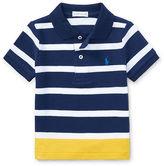 Ralph Lauren Boy Striped Cotton Mesh Polo Shirt