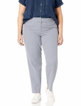 Nine West Women's Plus Size Gingham Pant