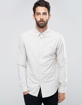 Farah Slim Oxford Marl Shirt Buttondown in Beige