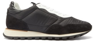 Dunhill Radial Suede And Mesh Trainers - Mens - Black