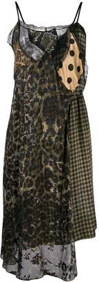 Preen by Thornton Bregazzi patchwork slip dress