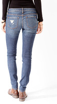 Forever 21 Distressed Denim Skinnies
