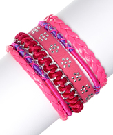 Fuschia Cord Bracelet