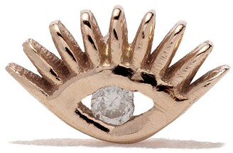Kismet by Milka 14kt rose gold Evil eye piercing diamond stud
