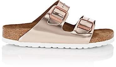 Birkenstock Women's Arizona Patent Leather Double-Buckle Sandals - Rose Gold