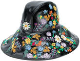 Gucci floral-embroidered wide-brim hat