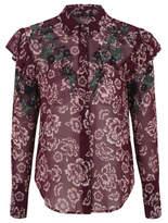 Bell George Embellished Floral Print Blouse
