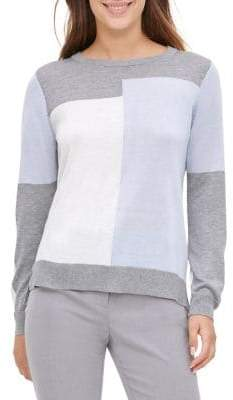 Calvin Klein Knit Colorblock Pullover
