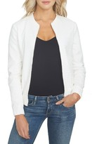 1 STATE Women's 1.state Eyelet Cotton Bomber Jacket
