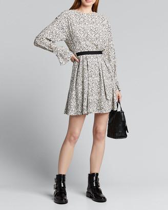 Jason Wu Inverse Floral Long-Sleeve Mini Dress