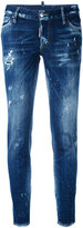 DSQUARED2 Cool Girl jeans - women - Cotton/Calf Leather/Polyester/Spandex/Elastane - 36