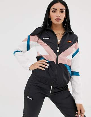 Ellesse shell track top in stripe-Multi