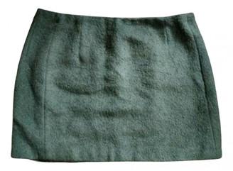 Acne Studios Green Wool Skirts