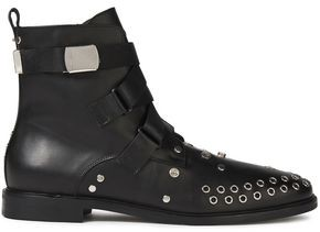McQ Synapse Embellished Leather Ankle Boots
