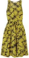 Diane von Furstenberg Printed Cotton And Silk-blend Voile Midi Dress