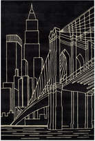Momeni Area Rug, Lil Mo Hipster LMT10 Brooklyn Bridge Black 5' x 7'