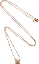 Anita Ko 18-karat rose gold and pavé diamond necklace