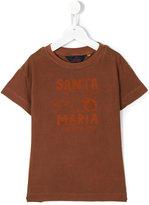 The Animals Observatory - santa maria print T-shirt - kids - Cotton - 2 yrs