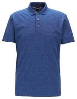 HUGO BOSS - Slim Fit Polo Shirt In Mercerized Mouline Cotton - Blue