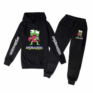 Un-speakable Frog Hoodies and Sweatpants Suit Fashion Sport Suit Two-Piece Sweatshirt Set for Boys Girls Teens Kids
