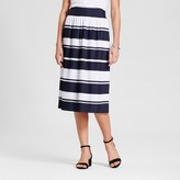 Merona Women's Striped Pleated Midi Skirt