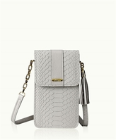 GiGi New York Penny Phone Crossbody Bag Embossed Python