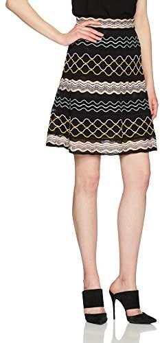 M Missoni Women's Ribbon Wave Stripe Skirt