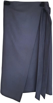Harmony Navy Wool Skirt for Women