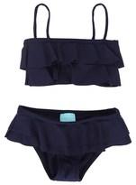 Melissa Odabash Navy Bandeau Frill Bikini