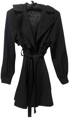 Escada Black Wool Trench Coat for Women