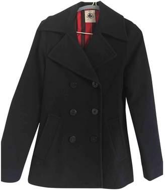 Petit Bateau Navy Wool Coat for Women