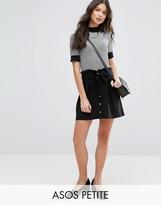 Asos Button Through Linen Mini Skirt