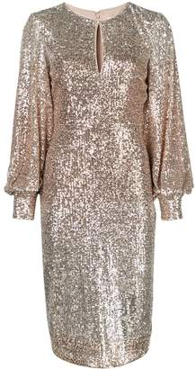 Badgley Mischka sequin embellished dress