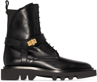 Givenchy Buckle-Strap Combat Boots