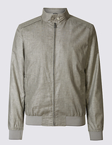 Limited Edition Linen Blend Bomber Jacket With Stormweartm