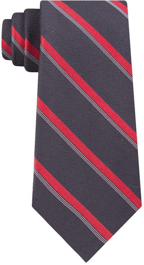 Calvin Klein Men Molten Bar Stripe Slim Tie