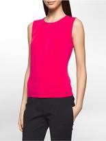 Calvin Klein Pleat Neck Sleeveless Top