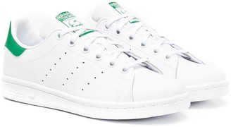 Adidas Originals Kids Stan Smith leather sneakers