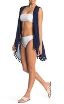 Athena Tassel Trim Cover-Up Wrap Dress