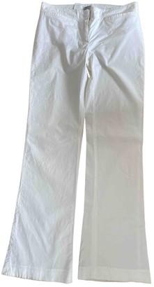 Philosophy di Alberta Ferretti White Cotton Trousers for Women