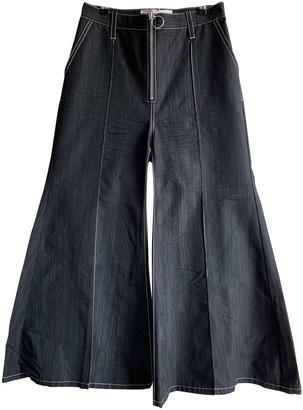 Marques Almeida Black Cotton Trousers